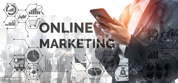 istock Marketing of Digital Technology Business Concept 1161944351