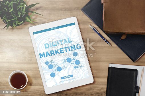 istock Marketing of Digital Technology Business Concept 1169700012