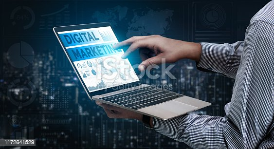 istock Marketing of Digital Technology Business Concept 1172641529
