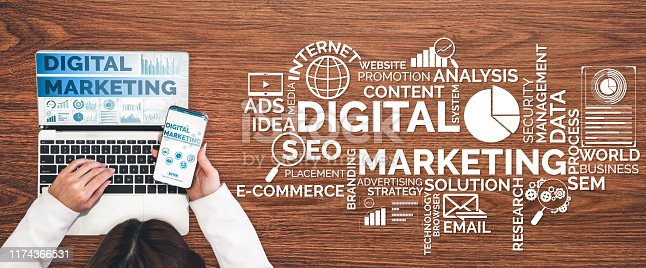 497982910 istock photo Marketing of Digital Technology Business Concept 1174366531