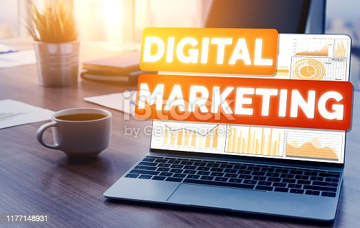 istock Marketing of Digital Technology Business Concept 1177148931