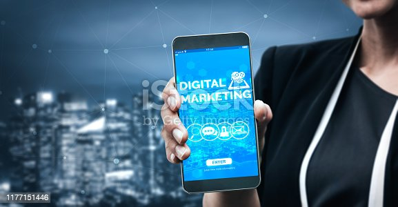 istock Marketing of Digital Technology Business Concept 1177151446