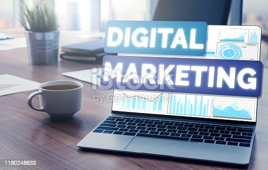 istock Marketing of Digital Technology Business Concept 1180248633