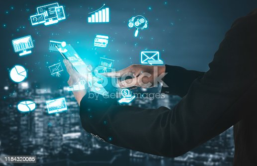 497982910 istock photo Marketing of Digital Technology Business Concept 1184320085