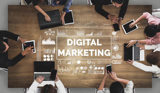 Marketing Of Digital Technology Business Concept Stock Photo - Download Image Now