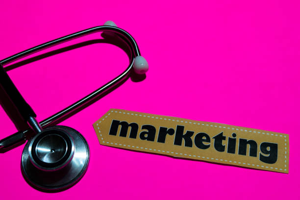 Marketing on the paper with medicare Concept stock photo