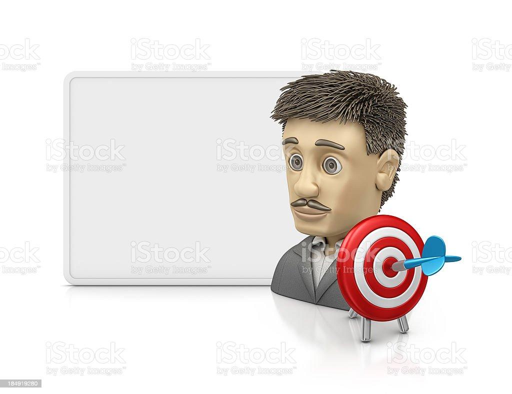 marketing person royalty-free stock photo
