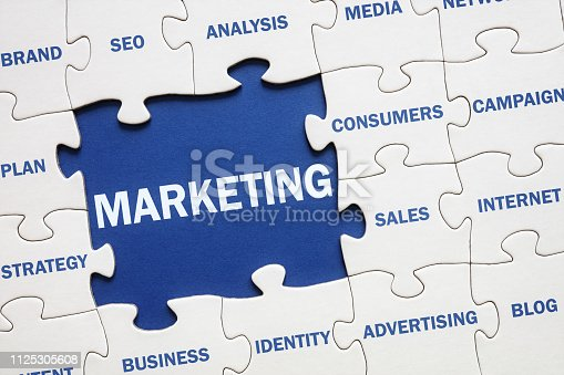 Business marketing solution jigsaw puzzle
