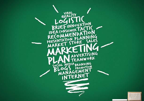 Ideias do plano de Marketing - foto de acervo