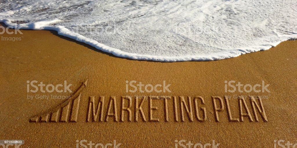 Marketing Plan in the Beach Photo Image stock photo