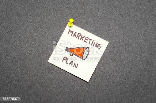 istock Marketing plan on dark background 578278372