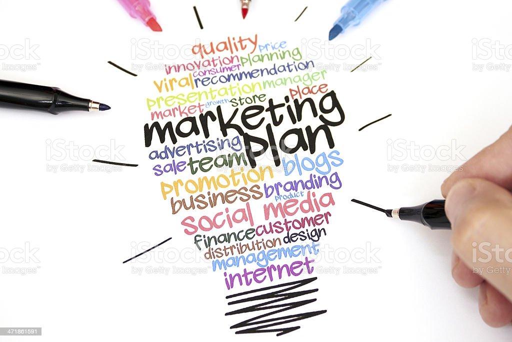 Marketing Plan royalty-free stock photo