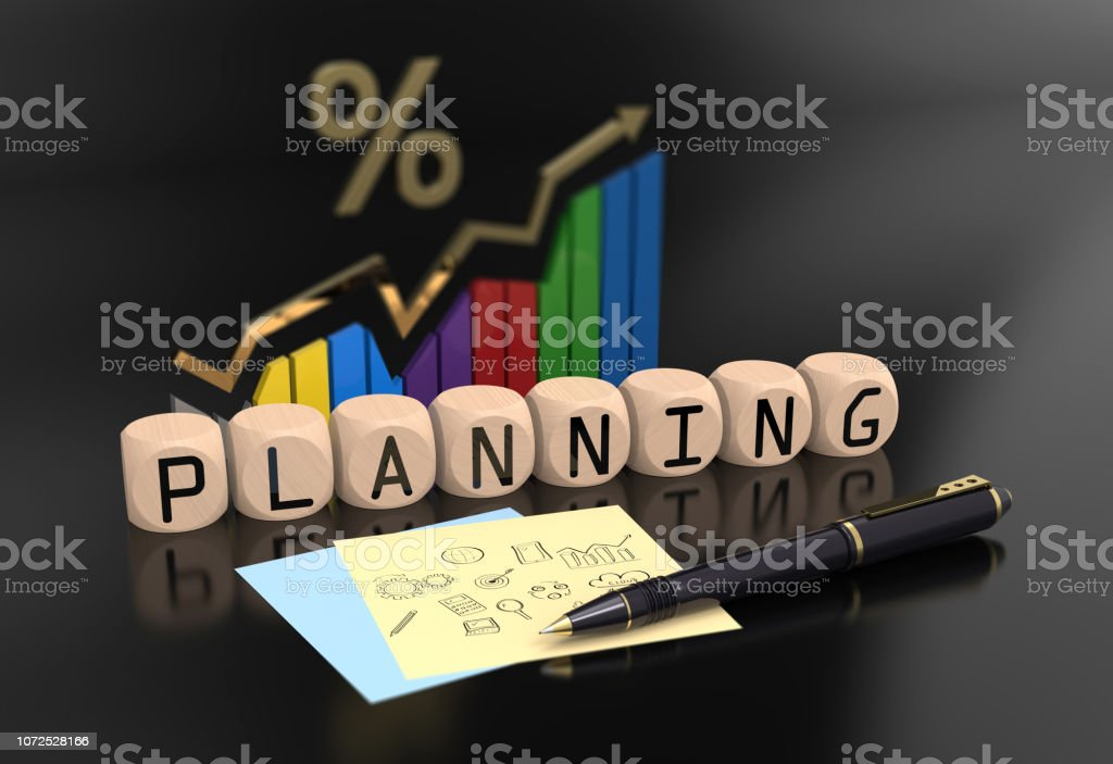 Marketing planning vision stock photo