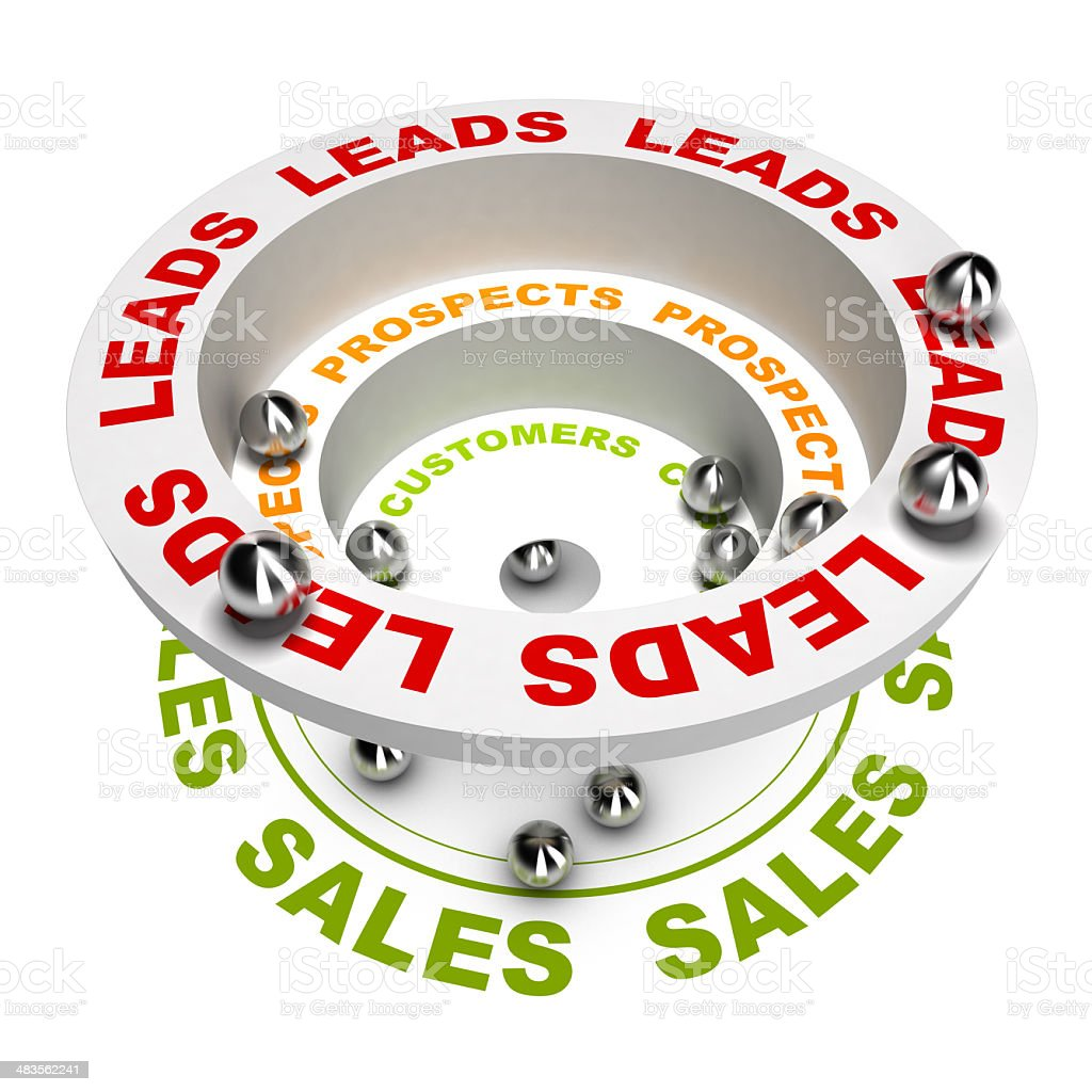 Marketing sales funnel stock photo