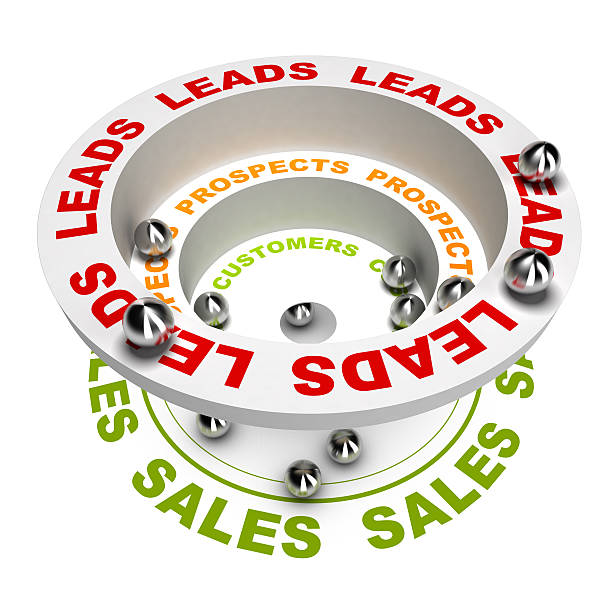marketing sales funnel - sales funnel stock photos and pictures