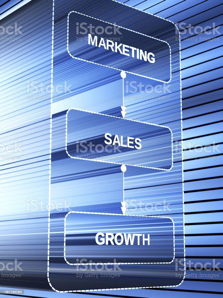 Marketing Sales Growth XL+ royalty-free stock photo