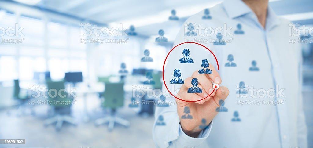 Marketing segmentation stock photo