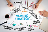 Marketing Strategy Business concept