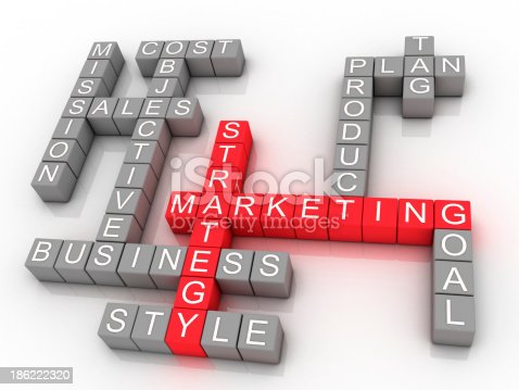 istock Marketing strategy related words 186222320