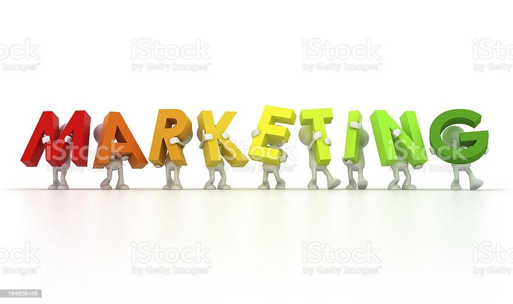 Marketing team royalty-free stock photo