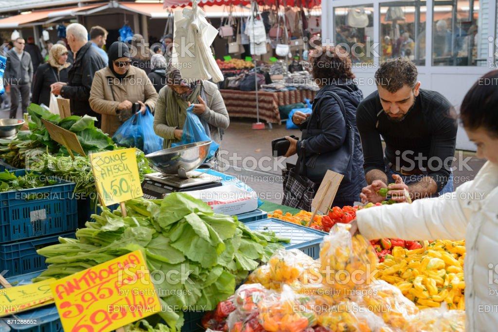Marktplatz in den Haag – Foto