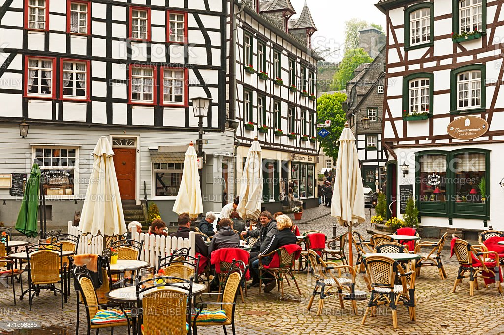 Marketplace of Monschau royalty-free stock photo