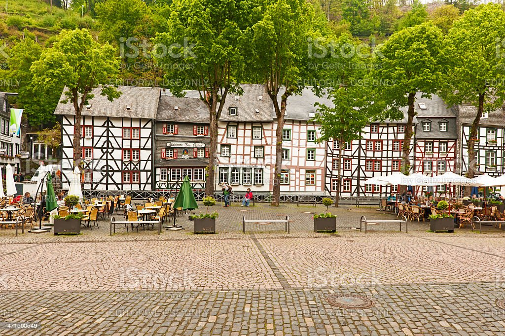 Marketplace of Monschau royalty-free stock photo