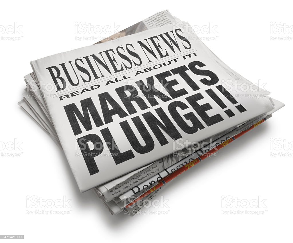 Markets Plunge!! royalty-free stock photo