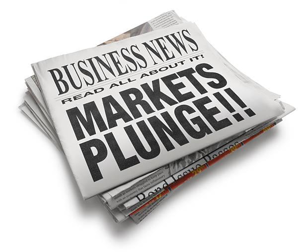 märkte plunge!! - börsencrash stock-fotos und bilder