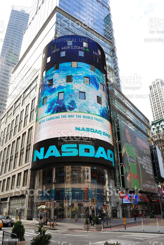 NASDAQ MarketSite royalty-free stock photo