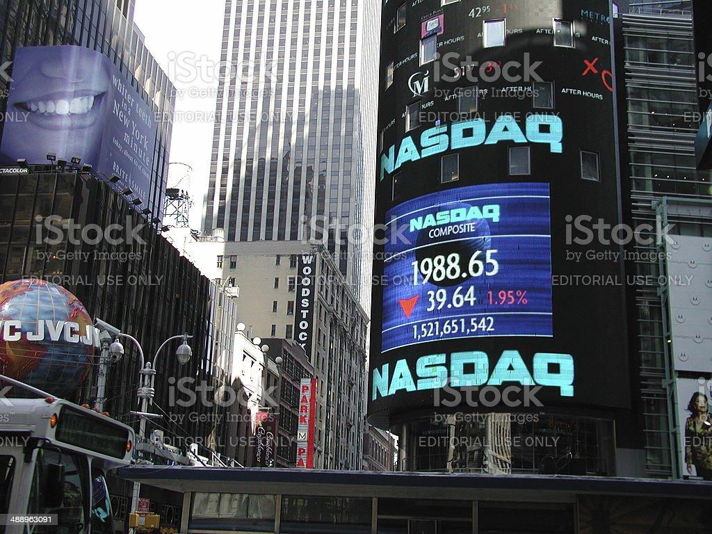NASDAQ Marketsite Times Square NYC 2001 stock photo
