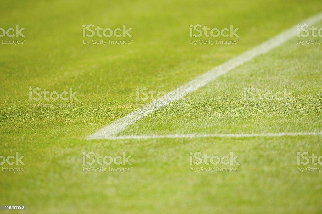 Markierung auf den Fussballplatz stock photo