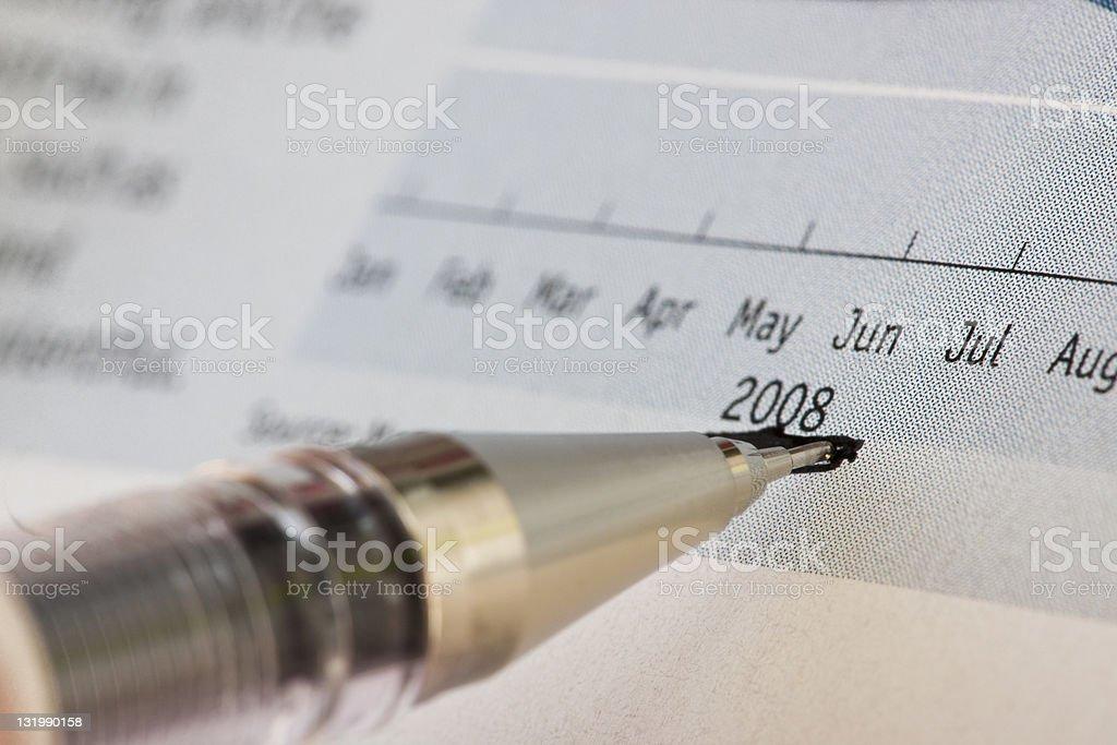 Marking 2008 year royalty-free stock photo