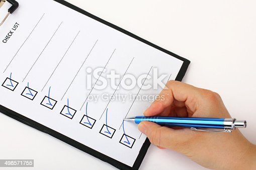 istock Marking in a Checkbox 498571755