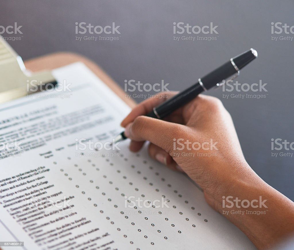 Marking off the best options stock photo