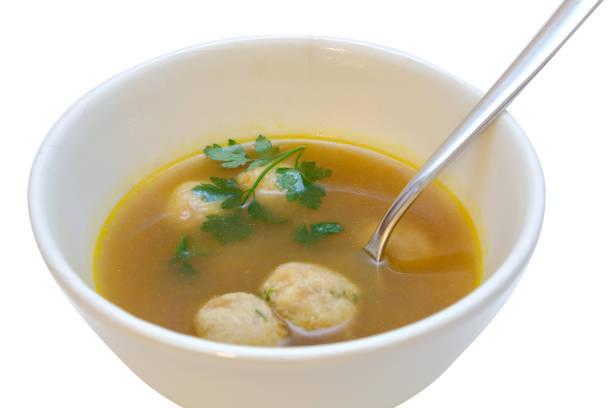 markkloesschen suppe - essensrezepte stock-fotos und bilder
