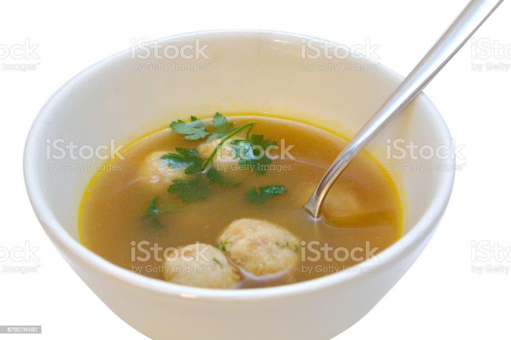 Markkloesschen Suppe stock photo