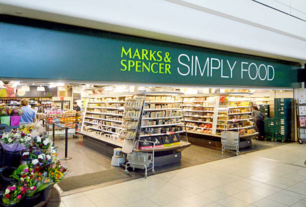 Marks & Spencer Simply Food Shop stock photo