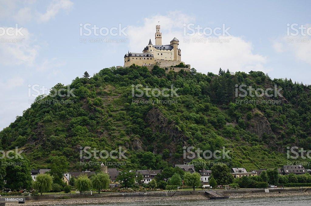 Marksburg Castle in Braubach, Germany stock photo