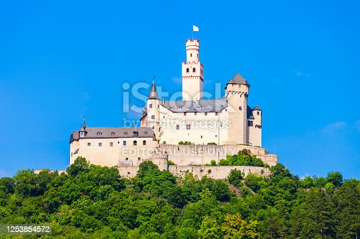 Marksburg is a castle above the Braubach town in Rhineland-Palatinate, Germany