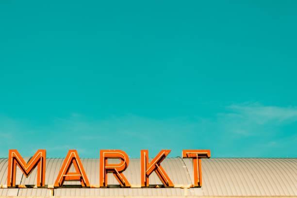 Markt stock photo