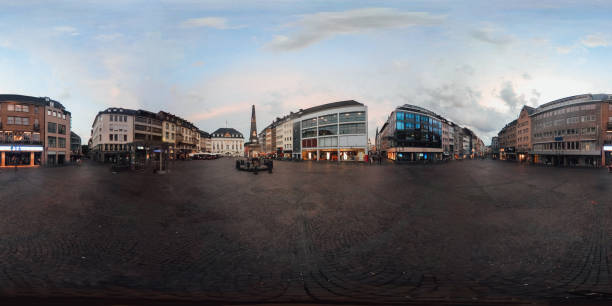 la plaza markt en bonn, alemania - imagen 360 grados - 360 fotografías e imágenes de stock