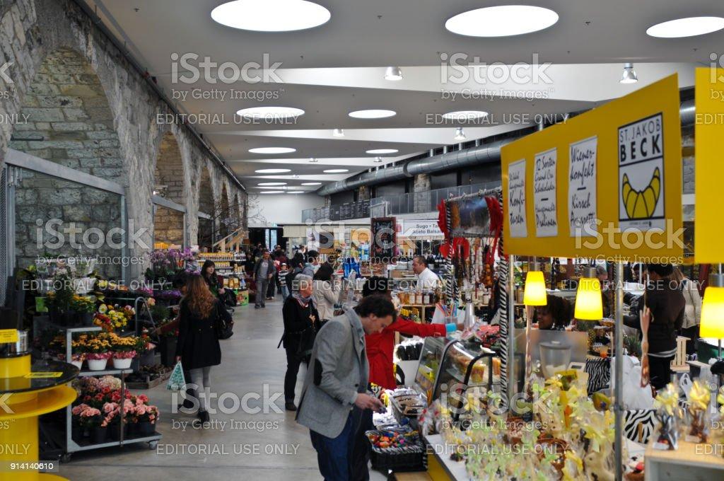 Markthalle Viadukt Zurich stock photo