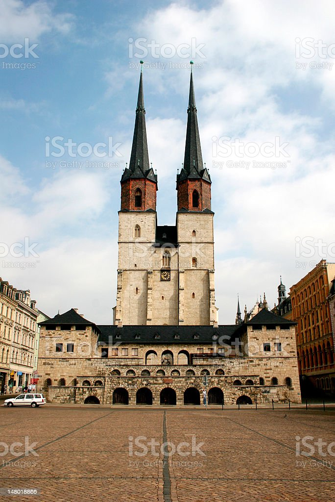Marktkirche in Halle royalty-free stock photo