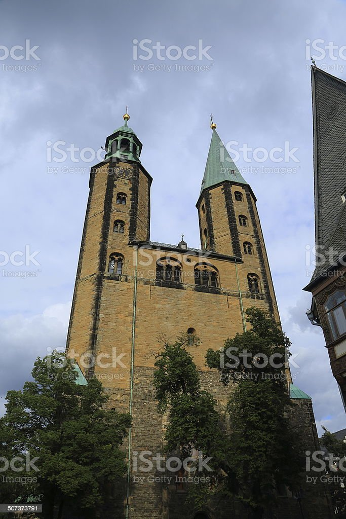 Marktkirche St. Cosmas und Damian, Goslar Germany stock photo
