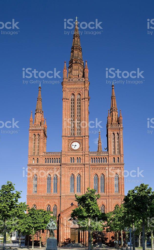 Marktkirche, Wiesbaden (Germany) stock photo