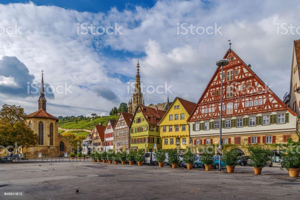 Marktplatz square, Esslingen am Neckar, Germany stock photo