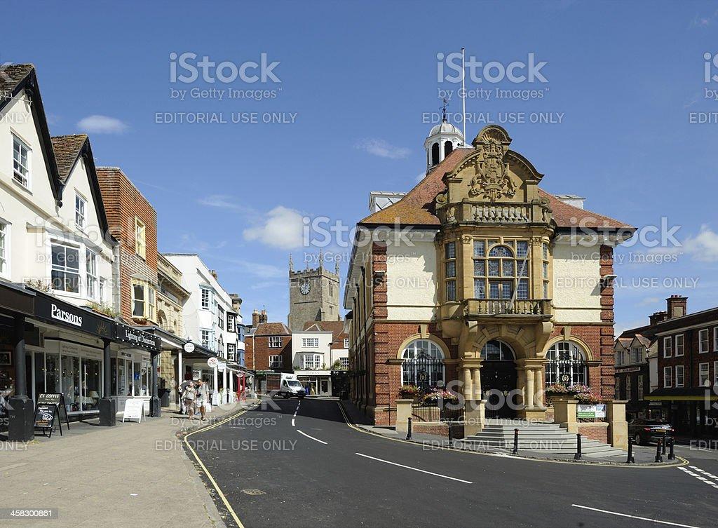 Marlborough Town Hall stock photo