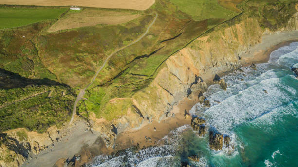 Marloes Sands Aerial Pembrokeshire 24th September 2015 stock photo
