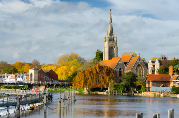 Marlow And The River Thames stock photo